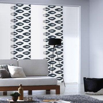 panneau japonais ikat bleu 250 x 50 cm. Black Bedroom Furniture Sets. Home Design Ideas