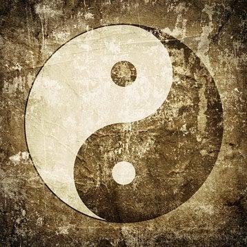Façade pour applique à composer Ying yang, 0, verre brun / marron, INSPIRE