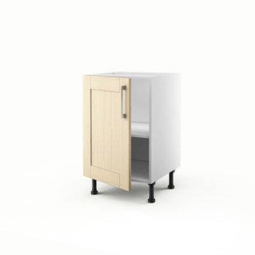 meuble de cuisine ch ne clair delinia cyclone leroy merlin. Black Bedroom Furniture Sets. Home Design Ideas