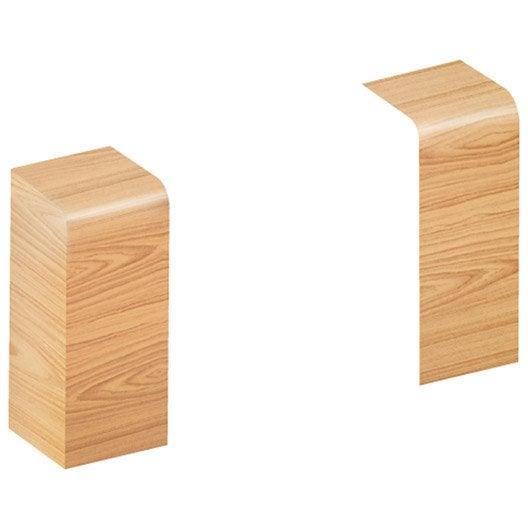 lot de 2 embouts h tre pour plinthe h 10 x p 3 7 cm. Black Bedroom Furniture Sets. Home Design Ideas