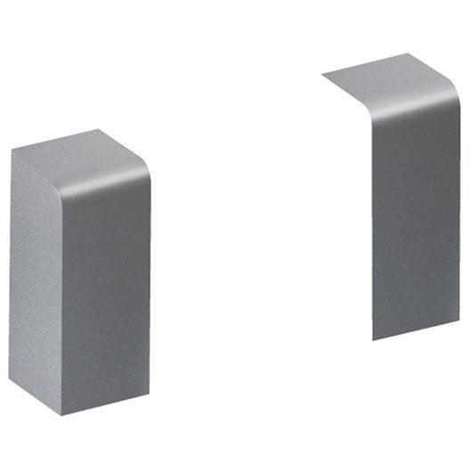 lot de 2 embouts aluminium pour plinthe h 10 x p 3 7 cm leroy merlin. Black Bedroom Furniture Sets. Home Design Ideas
