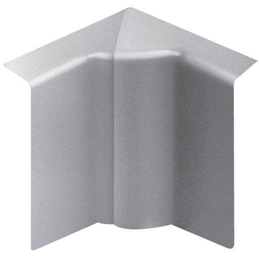 Angle int rieur aluminium pour plinthe h 10 x p 5 5 cm - Coin de finition plinthe ...