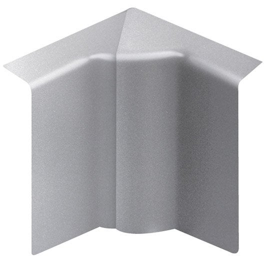 angle int rieur aluminium pour plinthe h 10 x p 5 5 cm leroy merlin. Black Bedroom Furniture Sets. Home Design Ideas