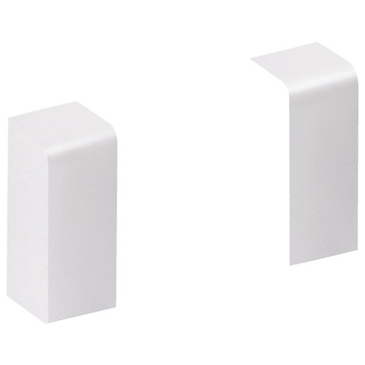 lot de 2 embouts blanc pour plinthe h 10 x p 3 7 cm leroy merlin. Black Bedroom Furniture Sets. Home Design Ideas