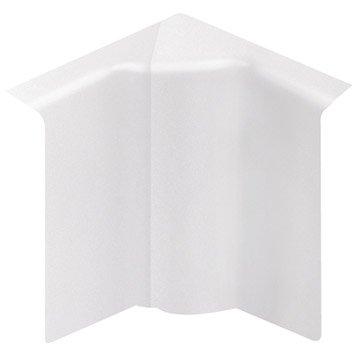 Angle intérieur blanc pour plinthe, H.8 x P.2 cm