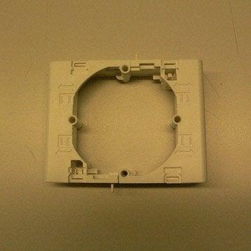 Support blanc pour goulotte, H. 9.4 x P.1 cm