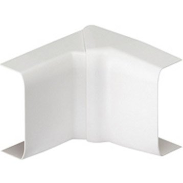 Lot de 2 angles intérieurs variables blanc pour moulure, H. 3.4 x P.1.5 cm