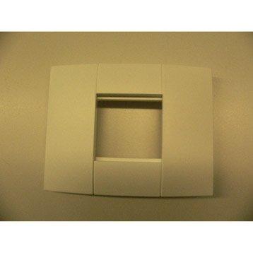 Support blanc pour goulotte, H. 9.4 x P.1.8 cm