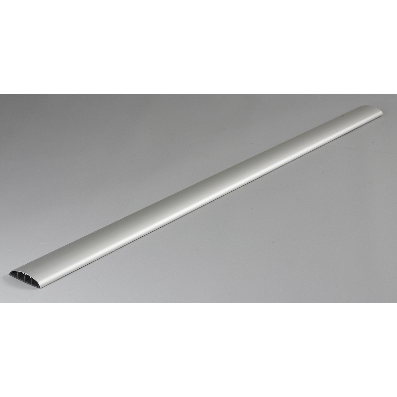 Cache C Ble Aluminium Pour Moulure H 100 X P 7 Cm Leroy Merlin # Comment Cacher Les Cables Tv
