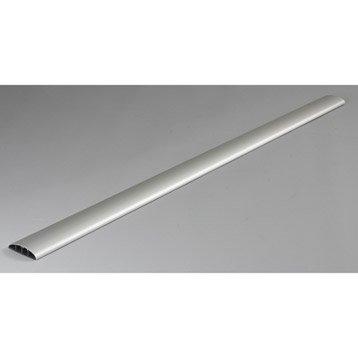 Cache-câble aluminium pour moulure, H.100 x P.7 cm