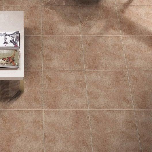 Carrelage sol et mur cuir effet terre cuite gobi x for Carrelage terre cuite prix