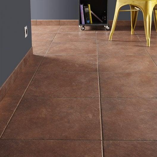 Carrelage sol et mur cotto effet pierre perigueux x l for Glissance carrelage