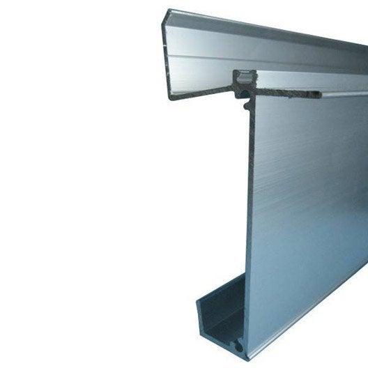 Fa ti re inf rieure sur mesure pour plaque ep 32 mm aluminium l 0 5 m leroy merlin for Plaque alu cuisine sur mesure