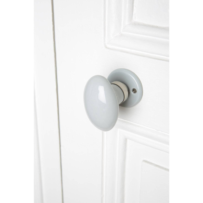 Bouton de porte porcelaine porcelaine de limoges nickel - Bouton de porte en porcelaine ...