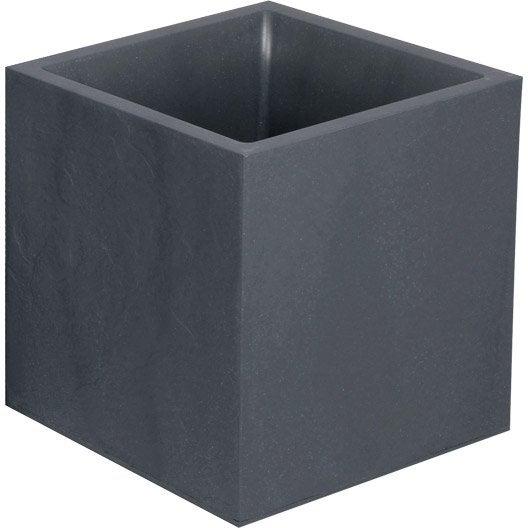 bac plastique eda x x cm anthracite leroy. Black Bedroom Furniture Sets. Home Design Ideas