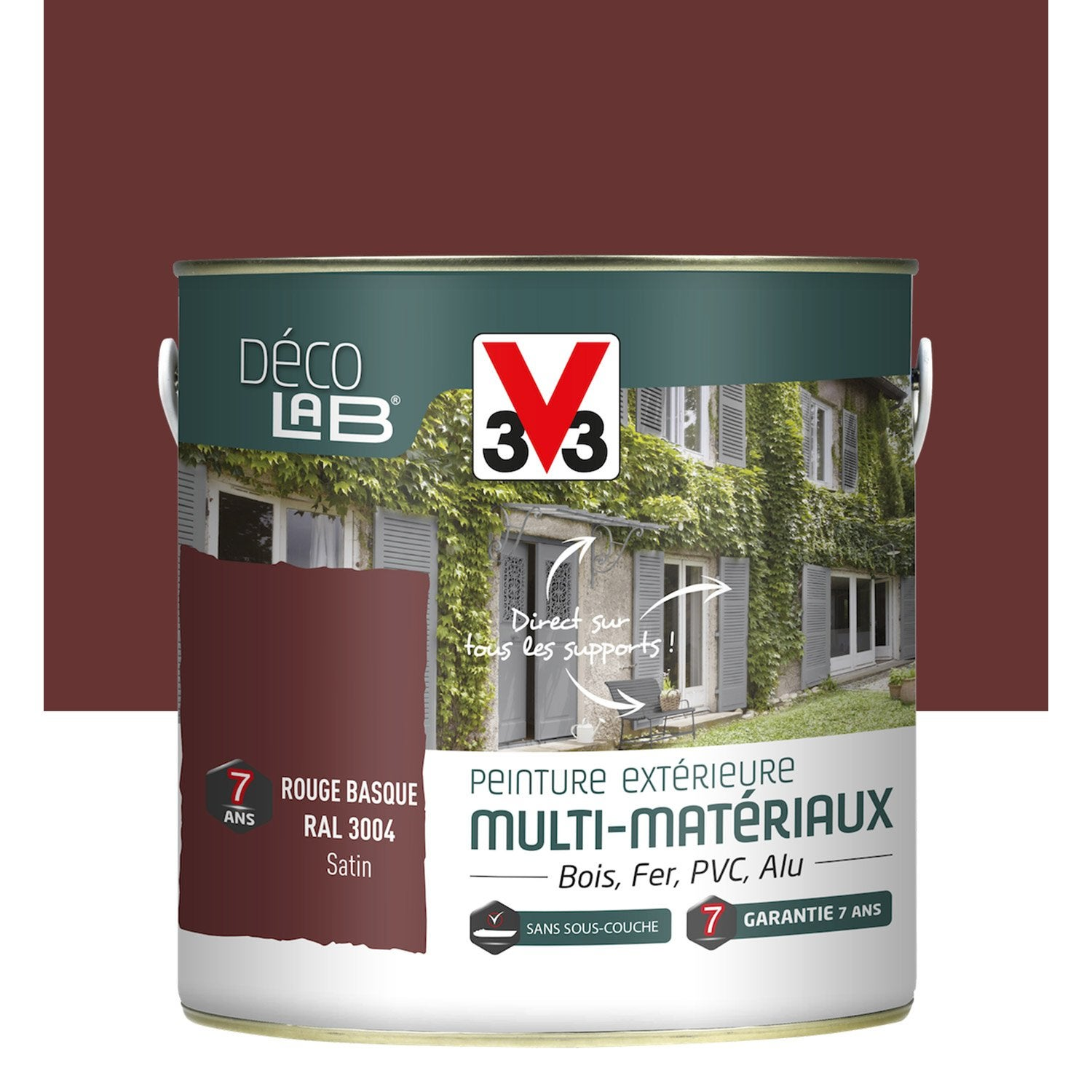 Peinture Multimat Riau Ext Rieur V33 Rouge Basque 2 L Leroy Merlin