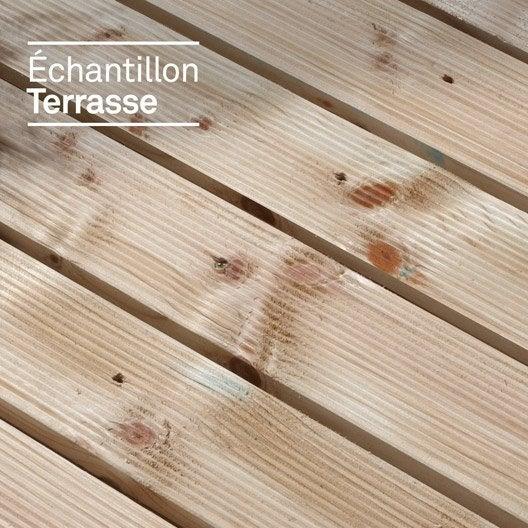 echantillon de terrasse en pin sylvestre vert leroy merlin. Black Bedroom Furniture Sets. Home Design Ideas