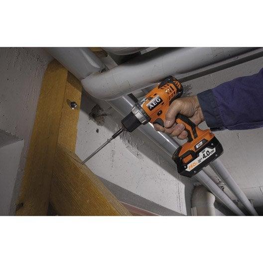 Perceuse sans fil AEG POWERTOOLS, 18 V 4 Ah, 2 batteries