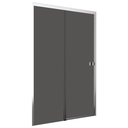 Porte de douche coulissante 120 cm fum neo leroy merlin - Porte douche neo ...
