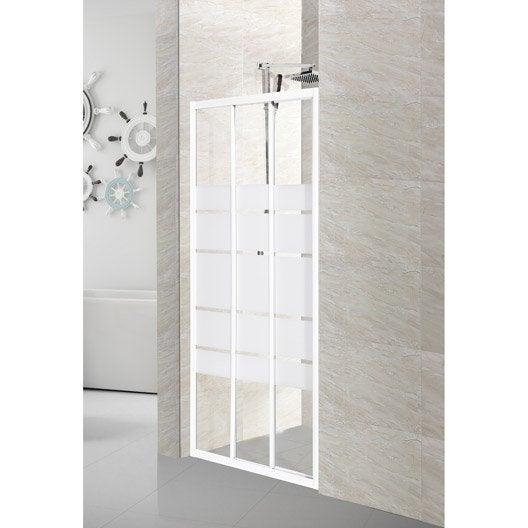Porte de douche au meilleur prix leroy merlin for Porte de douche 110 cm
