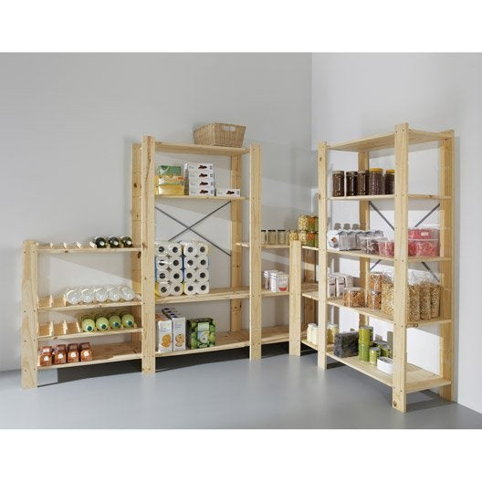 etag re pin 4 tablettes x x cm leroy merlin. Black Bedroom Furniture Sets. Home Design Ideas