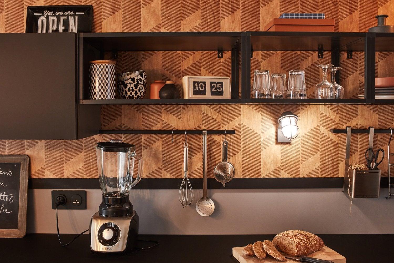 adoptez le style industriel pour votre salon leroy merlin. Black Bedroom Furniture Sets. Home Design Ideas