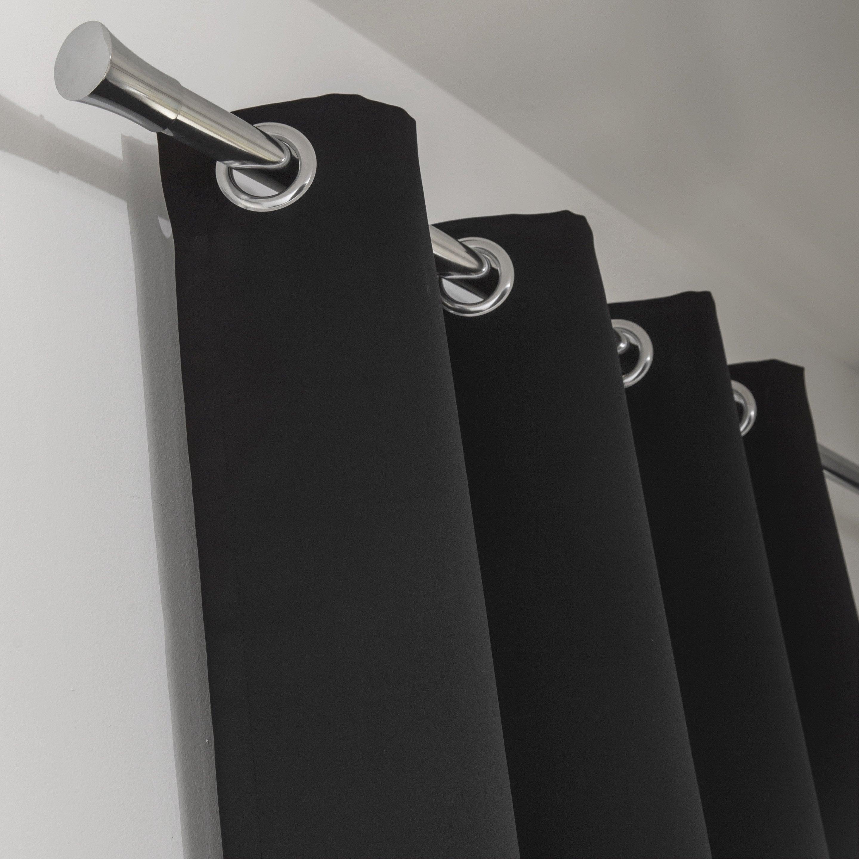 Rideau occultant, Newblackout noir l.140 x H.260 cm