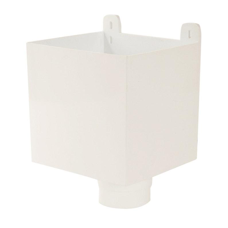 Boîte à Eau Pour Gouttière Ronde Pvc Blanc Girpi Diam80 Mm