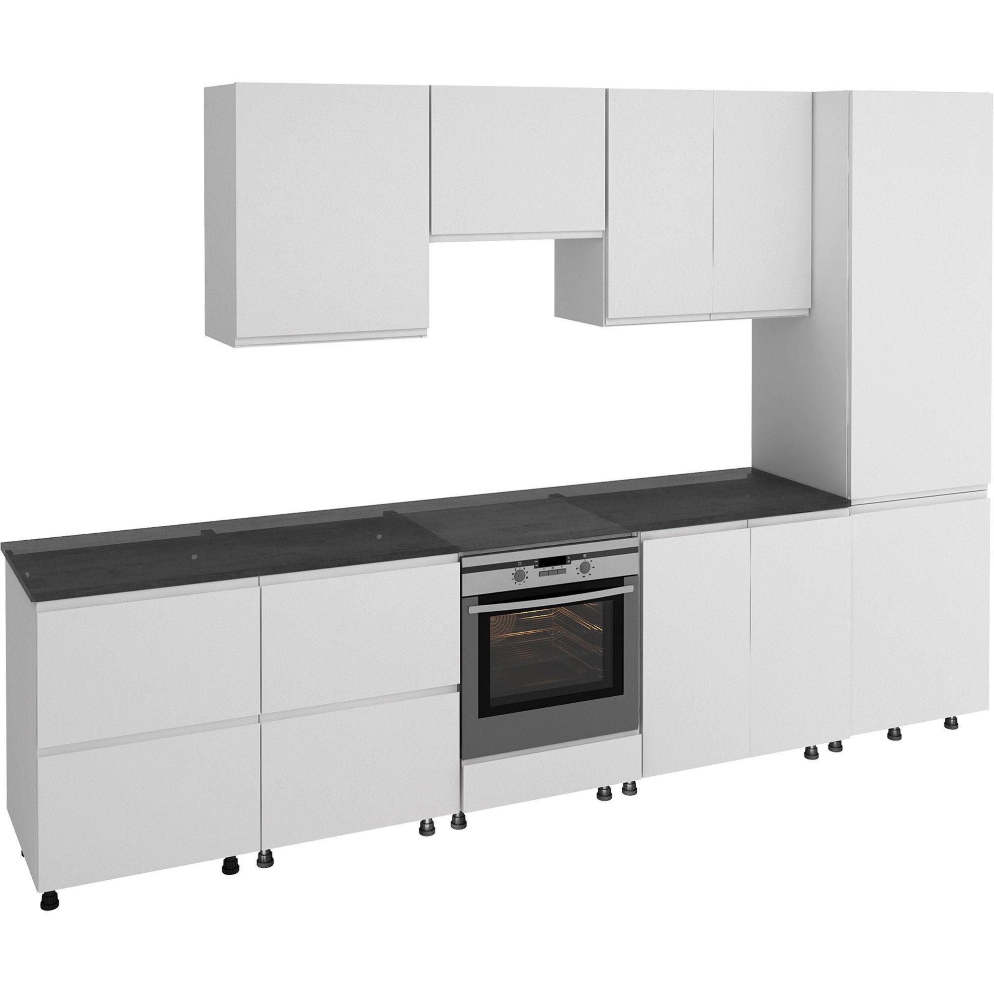 Nettoyer Les Placards De Cuisine cuisine tokyo blanc l.320 cm
