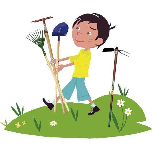 Outil de jardinage pour enfants pelle rateau balai for Outillage a main jardinage