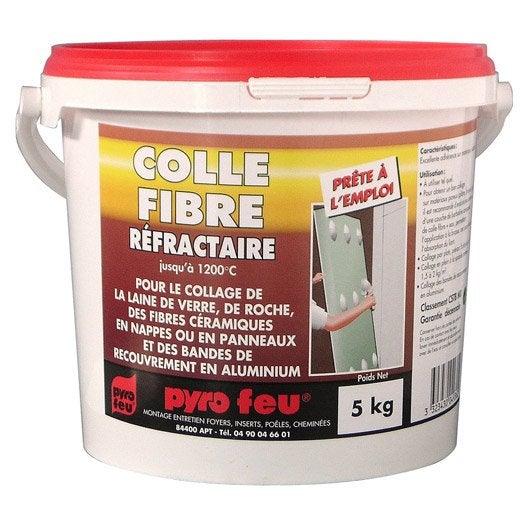 Colle r fractaire pyrofeu 5 kg leroy merlin - Colle pour plaquette de parement exterieur ...
