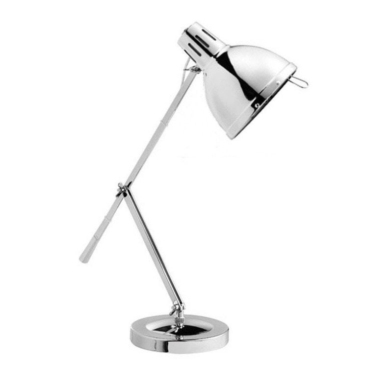 Lampe De Bureau E27 A Poser Chrome Cynthia Leroy Merlin