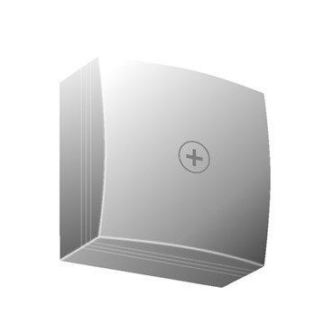 Dérivation blanc pour moulure, H. 7.5 x P.3.2 cm
