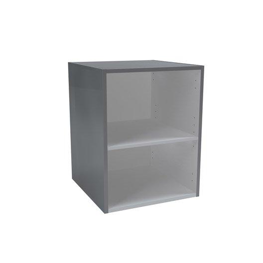 meuble bas x x cm gris remix leroy merlin. Black Bedroom Furniture Sets. Home Design Ideas
