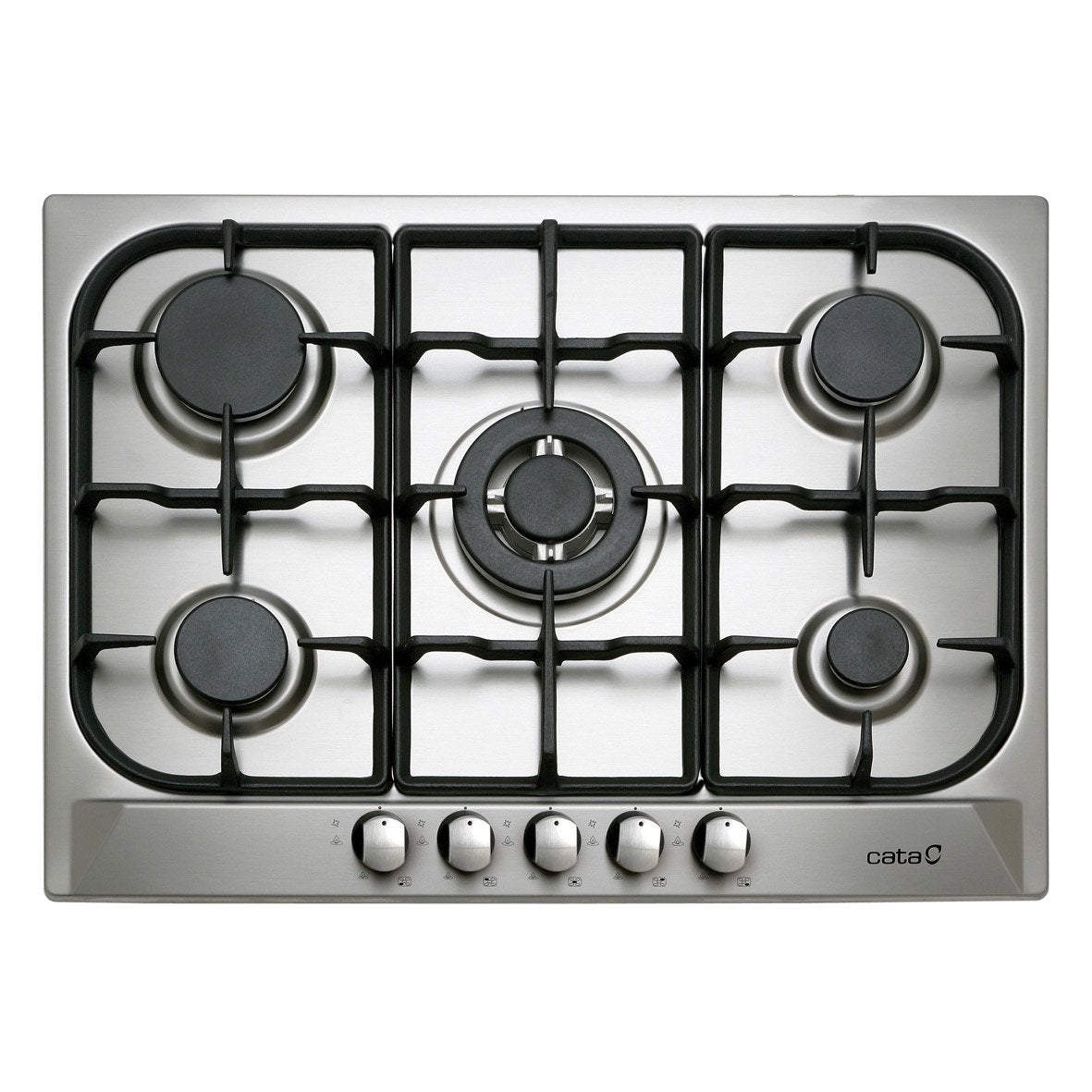 plaque de cuisson gaz 5 foyers inox cata apelson l705ti. Black Bedroom Furniture Sets. Home Design Ideas