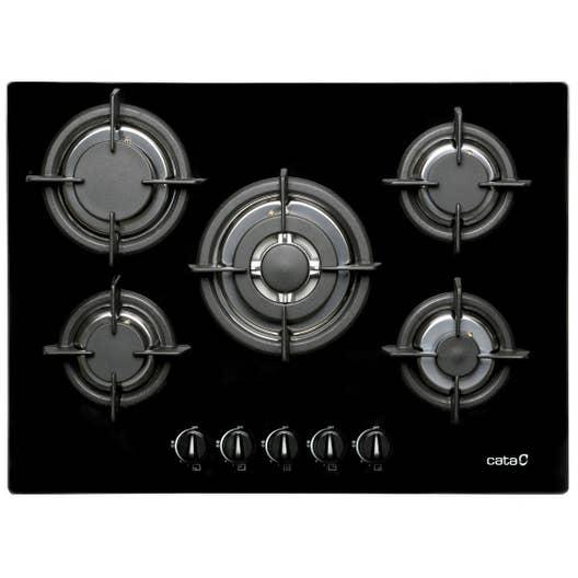 plaque de cuisson gaz 5 foyers noir cata apelson l705ci. Black Bedroom Furniture Sets. Home Design Ideas