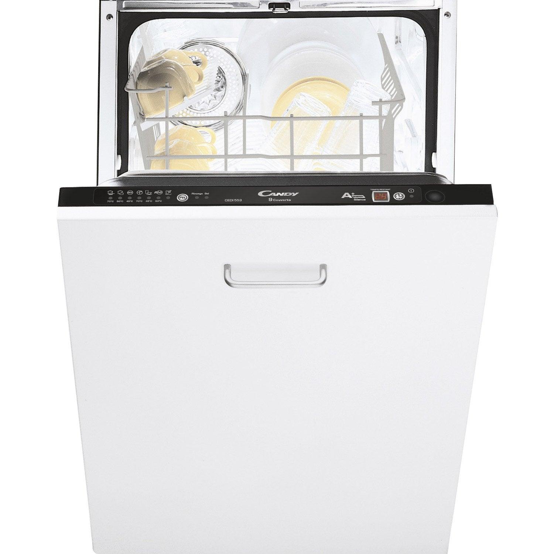 lave-vaisselle intégrable l.44.8 cm candy cedi947, 9 couverts