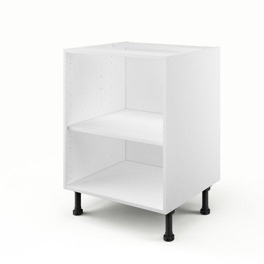 caisson de cuisine bas b60 delinia blanc x x cm leroy merlin. Black Bedroom Furniture Sets. Home Design Ideas