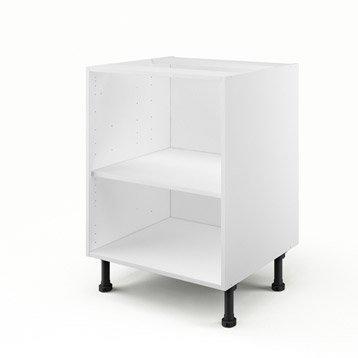 Caisson de cuisine bas B60 DELINIA blanc L.60 x H.85 x P.56 cm