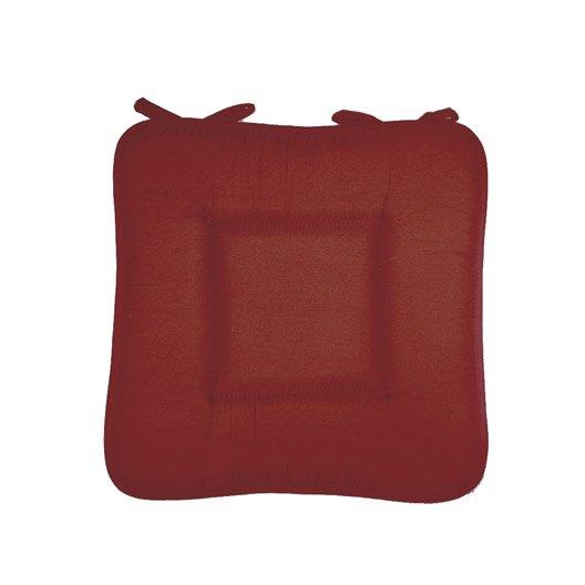 Galette de chaise bordeaux 40 x 40 cm leroy merlin for Leroy merlin bordeaux