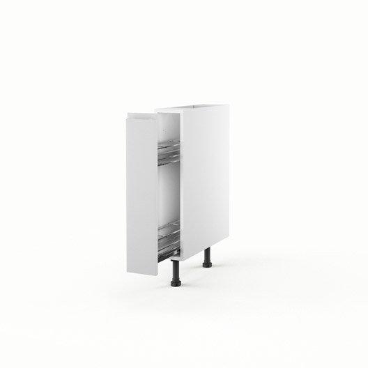 Meuble de cuisine bas blanc 1 porte graphic x x for Meuble cuisine 15 cm