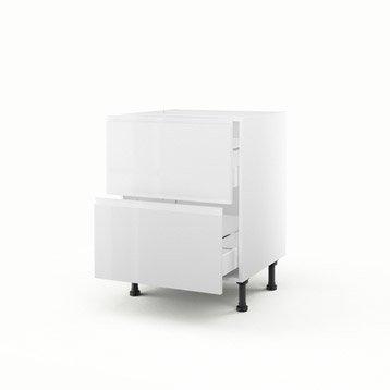 meuble de cuisine blanc delinia graphic leroy merlin. Black Bedroom Furniture Sets. Home Design Ideas
