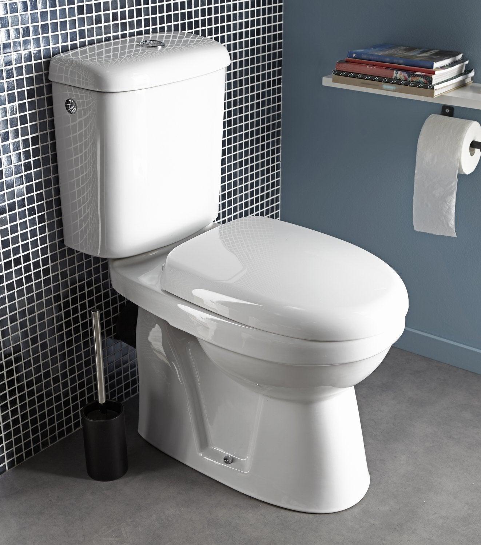 un wc styl avec du carrelage motifs noir et blanc. Black Bedroom Furniture Sets. Home Design Ideas