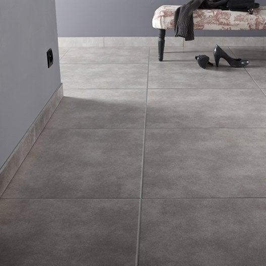 Carrelage sol et mur gris fum effet b ton soho x l for Carrelage 5 cm