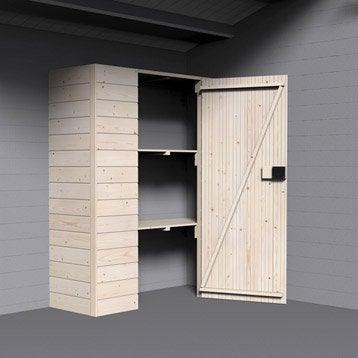 Armoire en bois DECOR ET JARDIN, l.142.5 x H.166 x P.50 cm