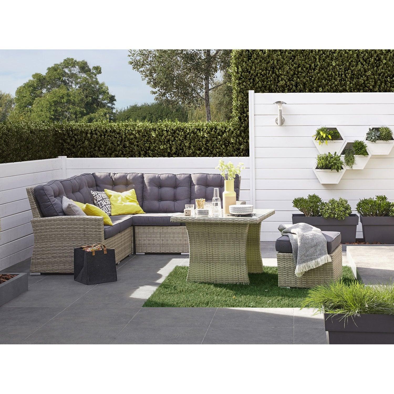 Salon De Jardin Resine Tressee Gris. Cool Best Salon De Jardin ...