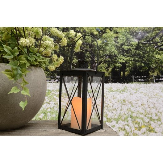lanterne piles noir leroy merlin. Black Bedroom Furniture Sets. Home Design Ideas