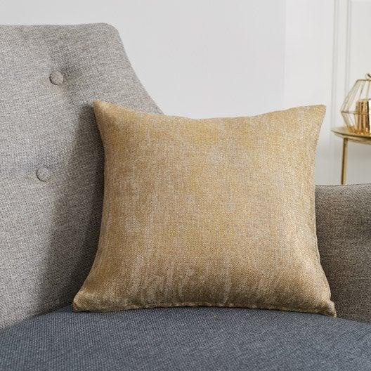 coussin marble inspire dor x cm leroy merlin. Black Bedroom Furniture Sets. Home Design Ideas