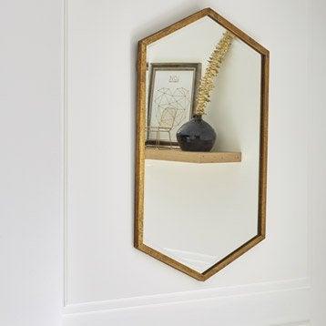 Miroir Losange, dorée