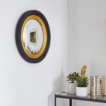 Miroir Convex, noir, l.37 x H.37 cm